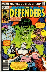 DEFENDERS #56, NM, Hulk, Sub-Mariner, HellCat, Valkyrie, 1972 1978, Marvel