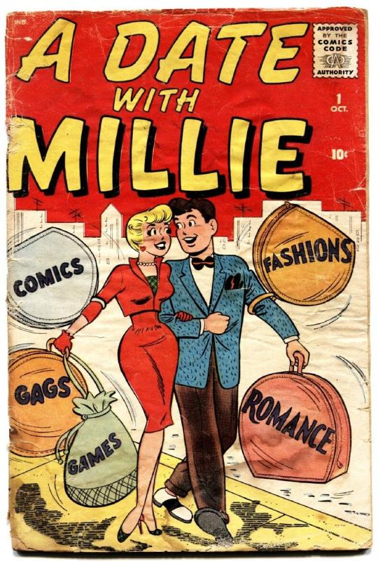 A Date With Millie #1 1959-Atlas-Dan DeCarlo-Chili-paper dolls-fashion bargain