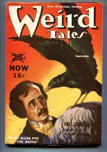 Weird Tales Pulp September 1939- Virgil Finlay-Edgar Allen Poe-VF