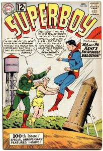 SUPERBOY #100 1962-SPECIAL ANNIVERSARY ISSUE-first DR. XANDU