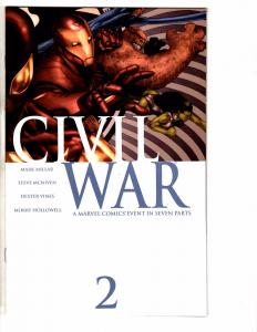 Civil War # 2 NM Marvel Comic Book 1st Print Avengers Iron Man Hulk Thor J234