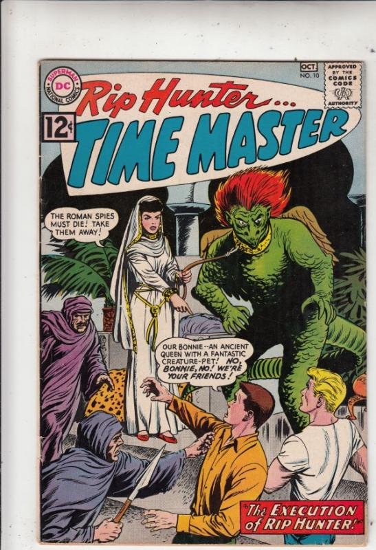 Rip Hunter Time Master #10 (Oct-62) FN/VF- Mid-High-Grade Rip Hunter, Jeff, B...