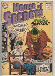 House of Secrets #31 (Apr-60) VG Affordable-Grade Mark Merlin