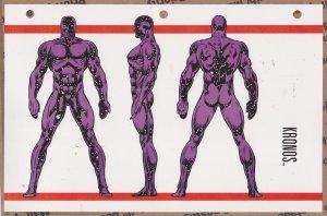 Official Handbook of the Marvel Universe Sheet- Kronos