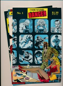 Lot of 3-CODE NAME DANGER #1-3 NM (PF950)