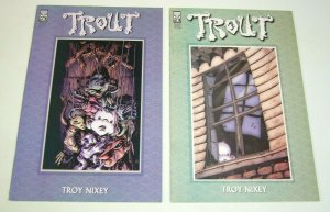 Trout #1-2 complete series - oni press comics - troy nixey set lot 2001