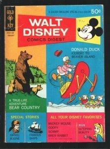 Walt Disney Comics Digest #20 1970-Carl Barks-Daniel Boone-Brer Rabbit-Sleepi...