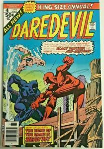 DAREDEVIL ANNUAL#4 VF/NM 1976 MARVEL BRONZE AGE COMICS