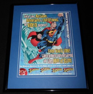 Superman 2001 DC Comics Framed 11x14 ORIGINAL Advertisement