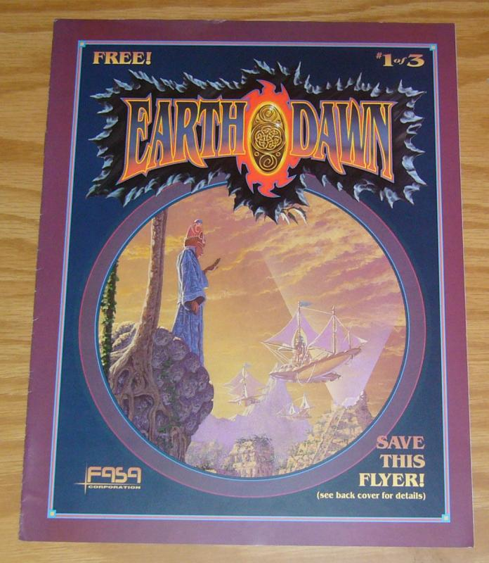 Earth Dawn #1 VF/NM fasa flyer