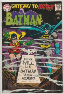 Batman #202 (Jun-68) FN/VF+ Mid-High-Grade Batman, Robin the Boy Wonder