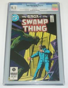Saga of the Swamp Thing #21 CGC 9.2 new origin - alan moore - stephen bissette