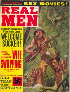 Real Men 10/1962-dismembered head-Gestapo Girl trap-cheesecake-crime-VG-