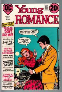 YOUNG ROMANCE #187 1972-DC COMICS-FN-PLEASE DON'T KISS ME!!! FN
