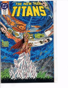 DC Comics New Teen Titans #35 Nightwing, Cyborg, Wonder Girl Marv Wolfman Story