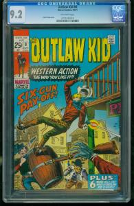 OUTLAW KID #8 1971-WESTERN-OFF-WHITE-CGC GRADED 9.2 0775195019