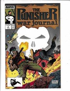 The Punisher War Journal #4 (1989) VF/FN MARVEL COMICS