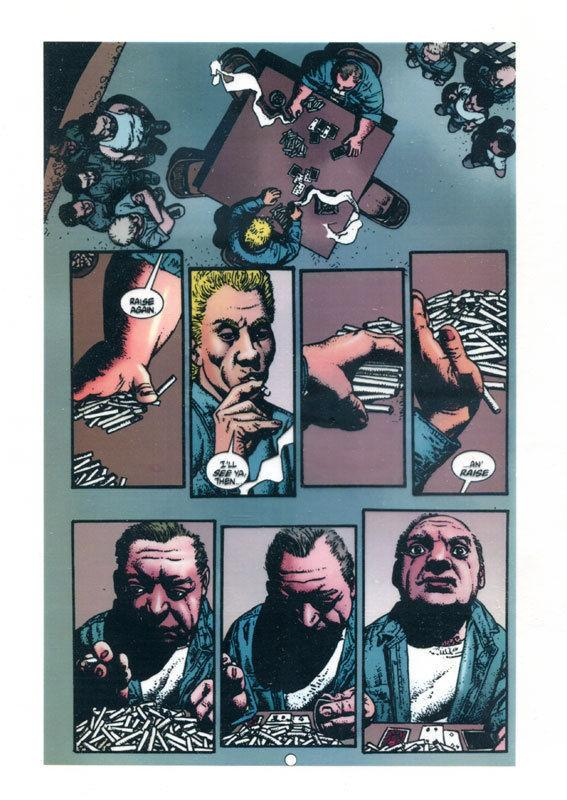 RICHARD CORBEN original transparency art, HELLBLAZER, #147 pg 18, Hard Time,Jail