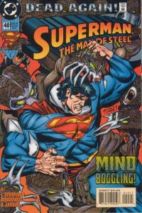 Superman: The Man of Steel #40, NM + (Stock photo)
