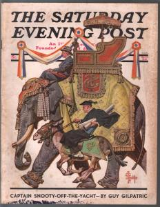 Saturday Evening Post 10/17/1936-Lyendecker elephant cover-complete magazine-VG