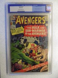 AVENGERS # 3 MARVEL CGC 3.5. HULK THOR IRON MAN SUB-MARINER ANT-MAN