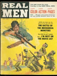 REAL MEN JULY 1959-PEGGY RAY CHEESECAKE-FANTASY-HORROR VG