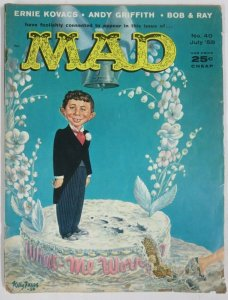 MAD MAGAZINE #40 (July,1958) VERY GOOD (VG) Kovacs, Bob & Ray, Andy Griffith!