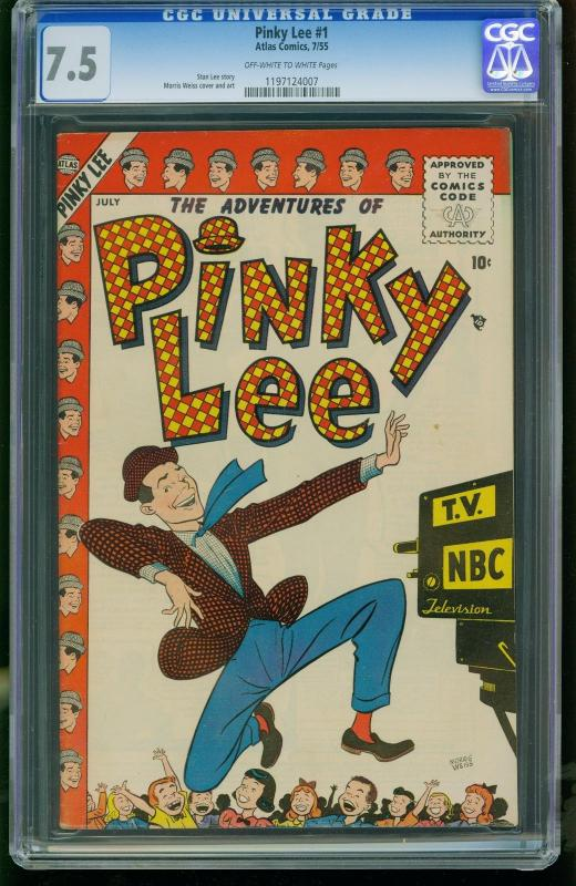 Pinky Lee #1-CGC 7.5 Highest Graded- Atlas -Stan Lee-SOUTHERN STATES 1197124007