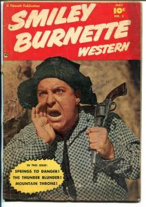 Smiley Burnette Western #2 1950-Fawcett-B-Western film sidekick-G/VG