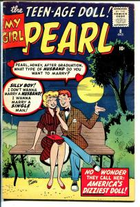 My Girl Pearl #8 1960-Marvel-Stan Goldberg-Good Girl Art-VG