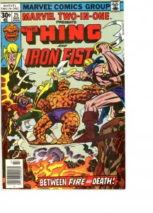 Marvel Two-In-One 25 VG/F  Iron Fist!