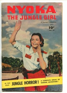 NYOKA THE JUNGLE GIRL #69 1952-FAWCETT-PHOTO COVER-JUNGLE HORROR-fn