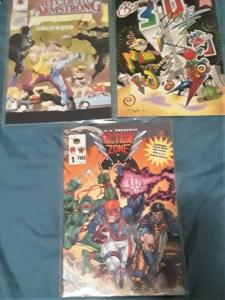 3 COMICBOOKS-ACTION ZONE/ARCHER&ARMSTRONG/BIZARRE 3-D ZONE-#14/#1/#1