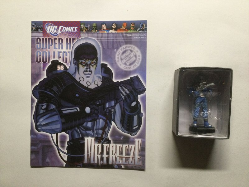 Mr. Freeze 58 Super Heros Collection Lead Figure and Magazine Dc Eaglemoss