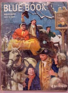 BLUE BOOK-DEC 1950-CHRISTMAS COVER PULP-W BLASSINGAME FR/G
