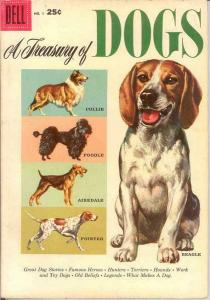 TREASURY OF DOGS 1 FINE   1956 COMICS BOOK