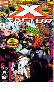 Lot Of 2 X-Factor Marvel Comic Book #72 73 Thor J193