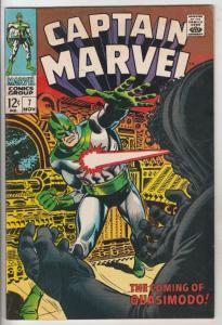 Captain Marvel #7 (Nov-68) FN+ Mid-High-Grade Captain Marvel