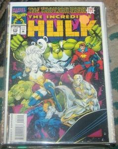 incredible hulk  # 415 1994 marvel trohan war pt 3 silver surfer  star jammers