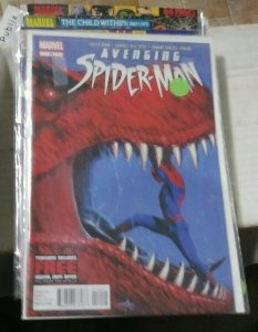 avenging spider-man # 14 2013 marvel devil dinosaur moon boy savage land