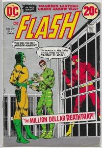 Flash   vol. 1   #219 GD/VG Green Lantern/Green Arrow, Bates/Novick, Top