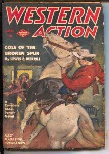 Western Action 6/1944-Columbia-gunfight cover-pulp thrills-WWII era issue-VG+