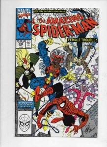 Amazing SPIDER-MAN #340, VF/NM, Larsen, Femme Fatales, 1963 1990, Marvel