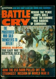 Battle Cry Pulp Magazine July 1969- Commie Vice Raiders- Hitler VG