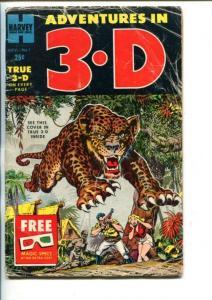 ADVENTURES IN 3-D #1-1953-BOB POWELL-HOWARD NOSTRANO-vg