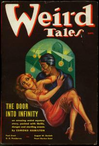 Weird Tales Pulp September 1936-Wild Margaret Brundage cover- Conan VF-