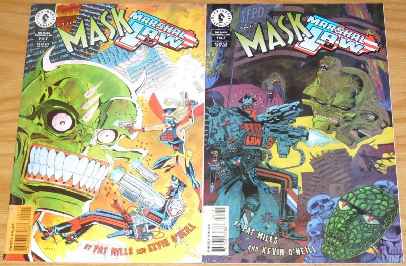 the Mask/Marshal Law #1-2 VF complete series PAT MILLS & KEVIN O'NEILL comic set