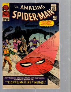 Amazing Spider-Man # 22 FN Marvel Comic Book Lizard Vulture Human Torch TJ1