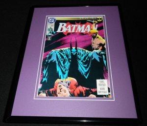Batman #493 1993 DC Comics Framed 11x14 ORIGINAL Comic Book Cover