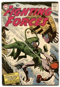 Our Fighting Forces #22 1957-DC-SILVER AGE-FROGMAN DUEL-g/vg